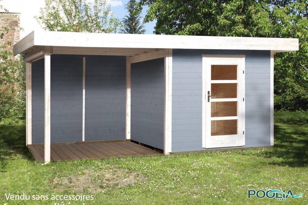 Abri Jardin Bois Lounge 3 avec extension - WEKA | Amenagement ...