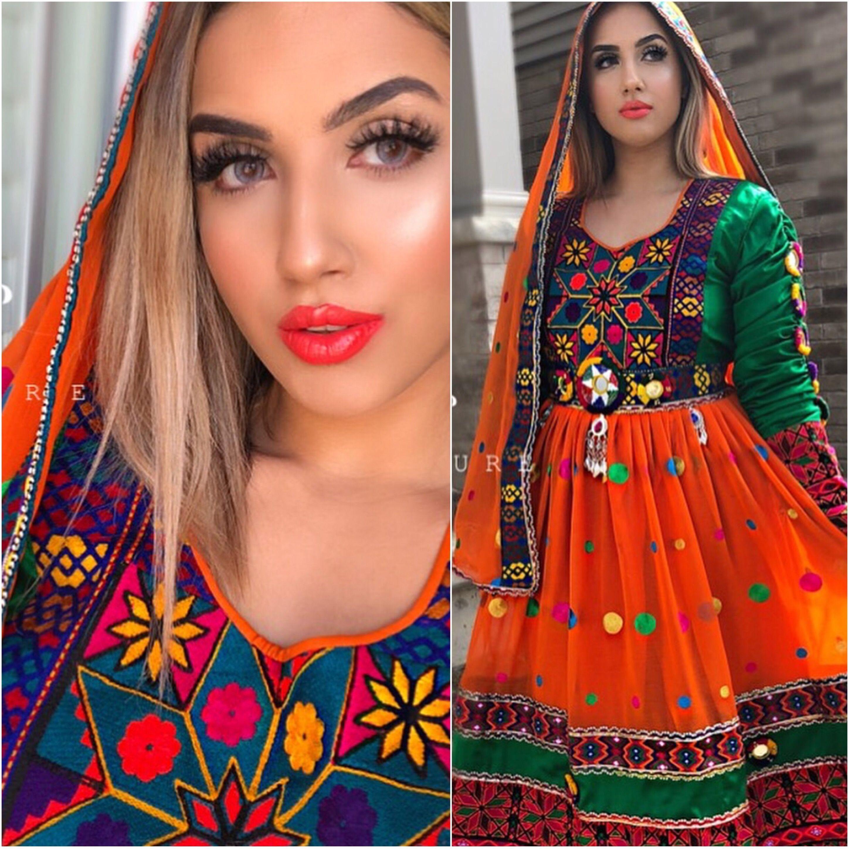 Afghan Style Dress Singer In 2020 Afghan Dresses Afghani Clothes Afghan Fashion