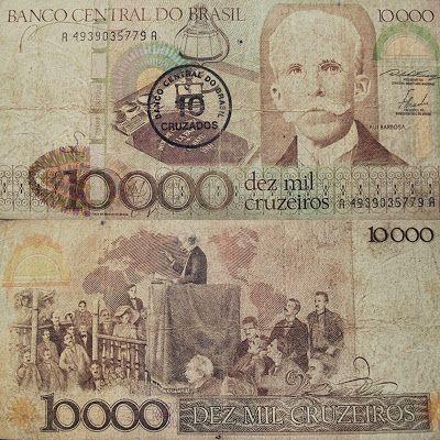Cr 10 000 Rui Barbosa Dinheiro Desenho Moedas Antigas Do