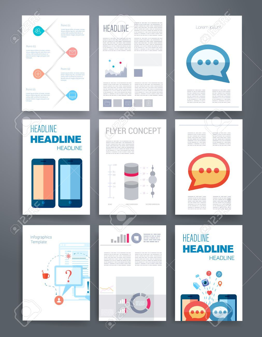 Cool Marketing Brochure Templates Set  Check More At Http