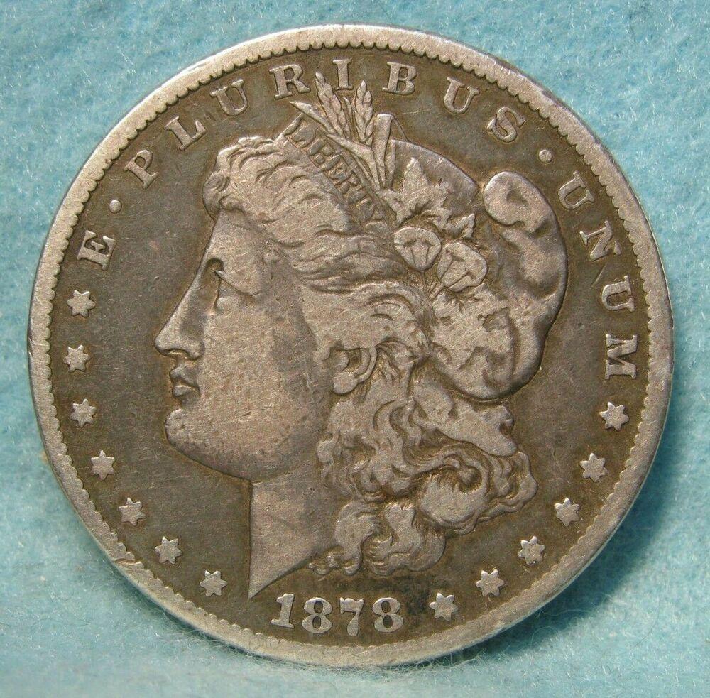 1878 Cc Carson City Mint Morgan Silver Dollar Vf Us Coin Morgan Silver Dollar Coins Silver Dollar