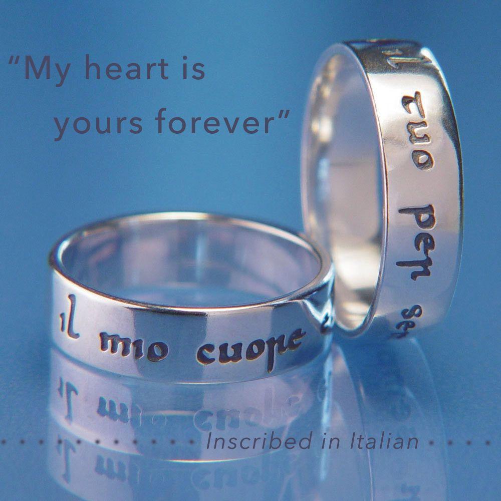 Italian Il Mio Cuore E Il Tuo Per Sempre Silver Gifts Silver Jewelry