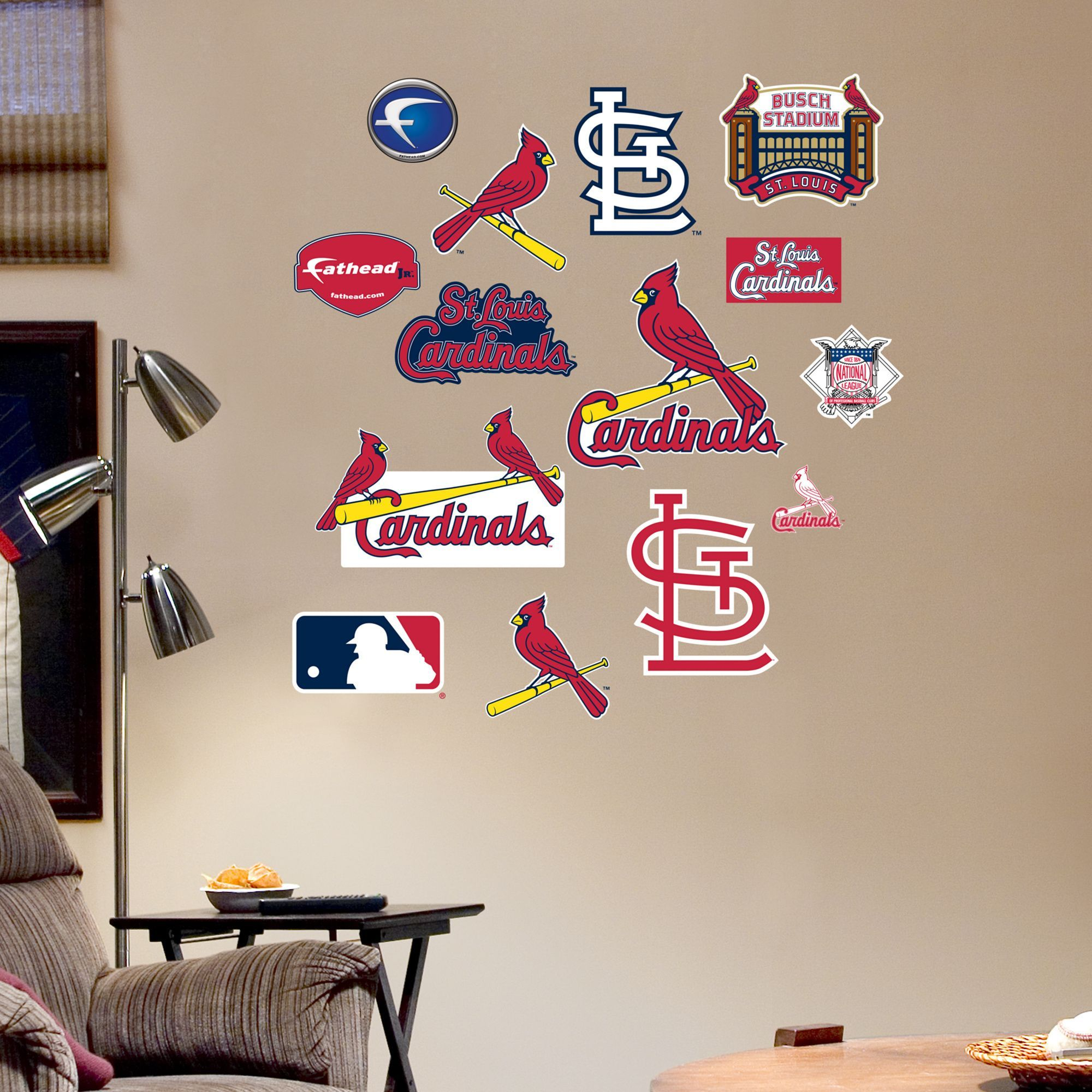 Fathead Jr St Louis Cardinals Logosheet Wall Decals Products - Yadier molina wall decals