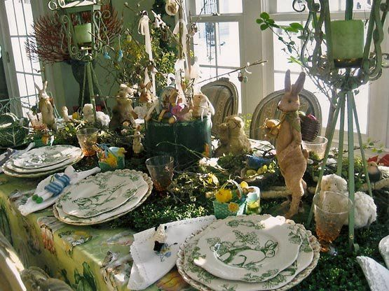 Paris House Design Easter Table Setting Is Just Gorgeous.