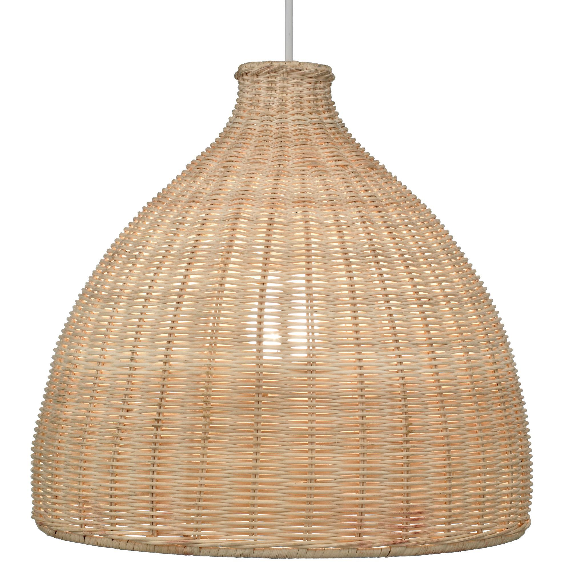Bedroom Lights B Q: Rattan Lamp Shade, £27, B&Q. Featured In Deluxe Interiors