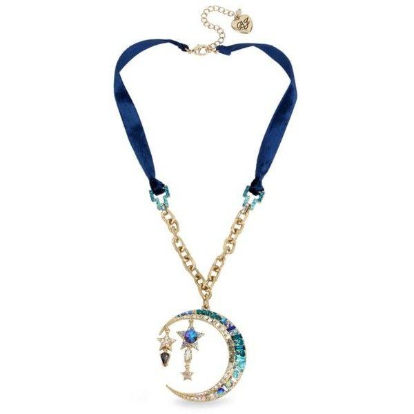 Betsey johnson gold tone celestial blue moon pendant necklace 65 betsey johnson gold tone celestial blue moon pendant necklace 65 liked on aloadofball Images