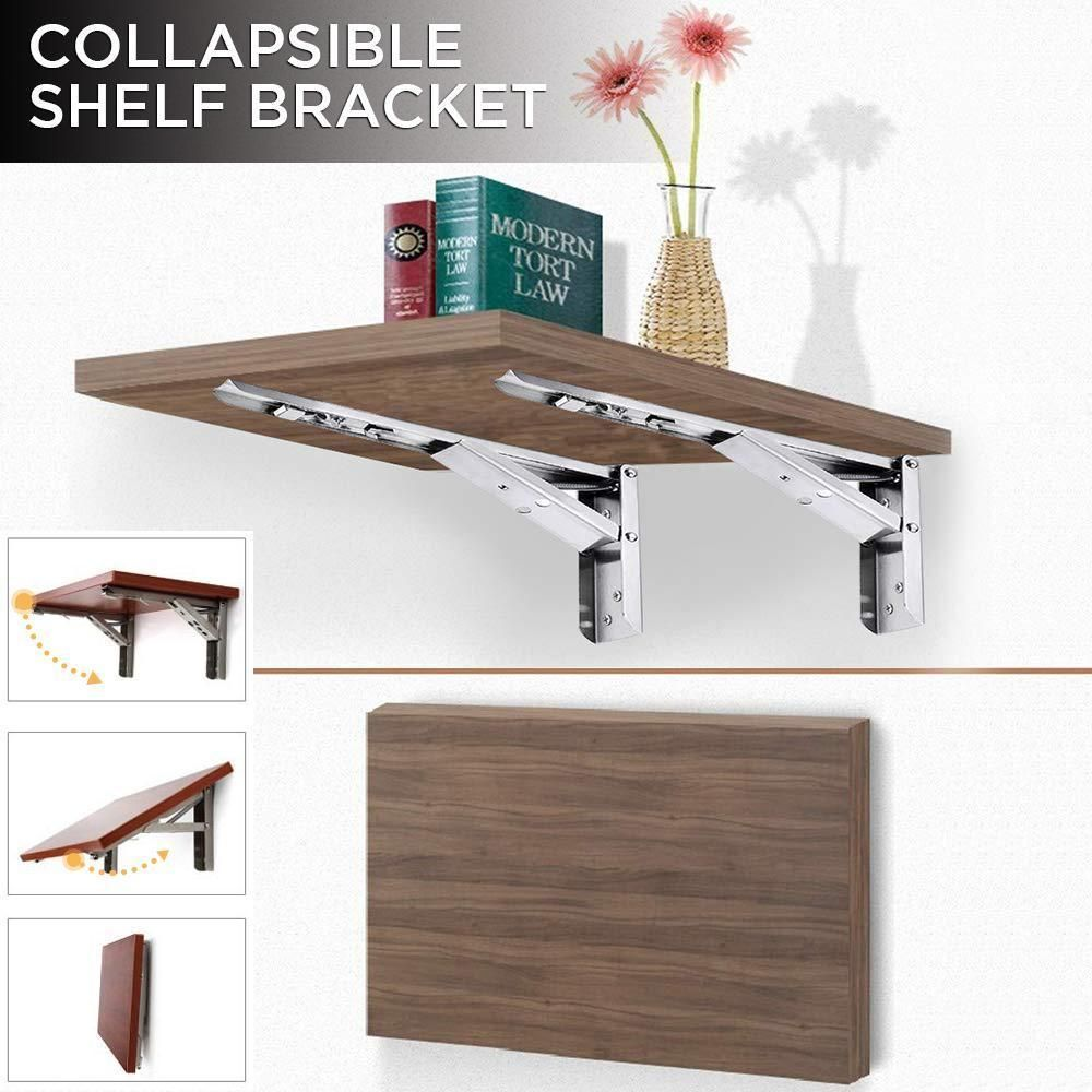 These Folding Brackets Are Ideal For Many Diy Jobs Around The Home Saving You Money While Keeping Collapsible Shelves Wall Shelf Brackets Floating Shelves Diy