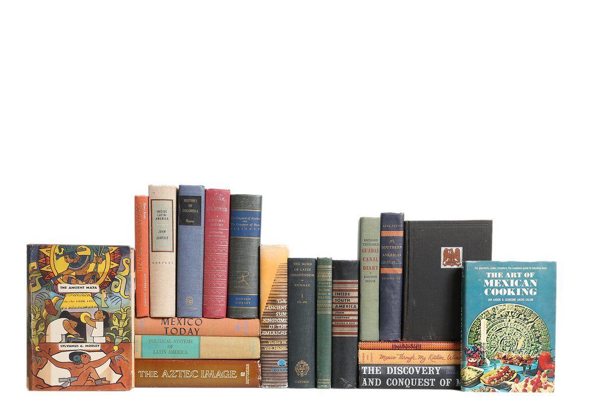 279 Authentic Decorative Books Custom Set Latin American History Culture Set Of 20 Book Decor Vintage Book Decor Vintage Book Gift