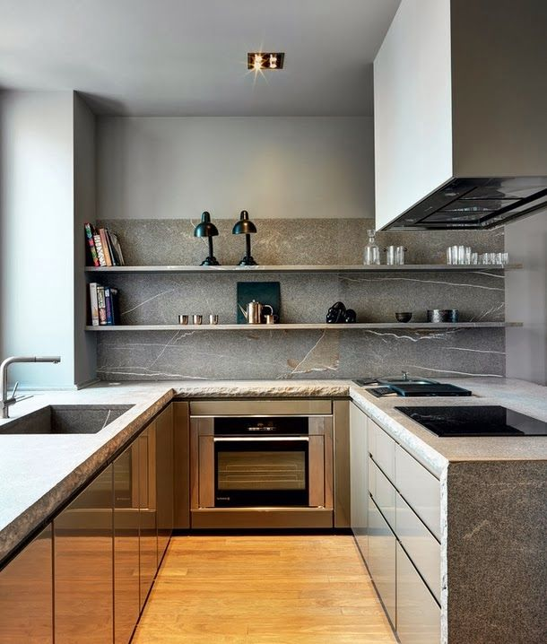 Perfect Grey Tones In This Kitchen And Look At The Edges Of The Stone  Countertops   Unfinished! Via Dustjacket Attic