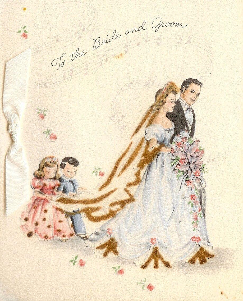 Свадебные картинки жених и невеста винтаж