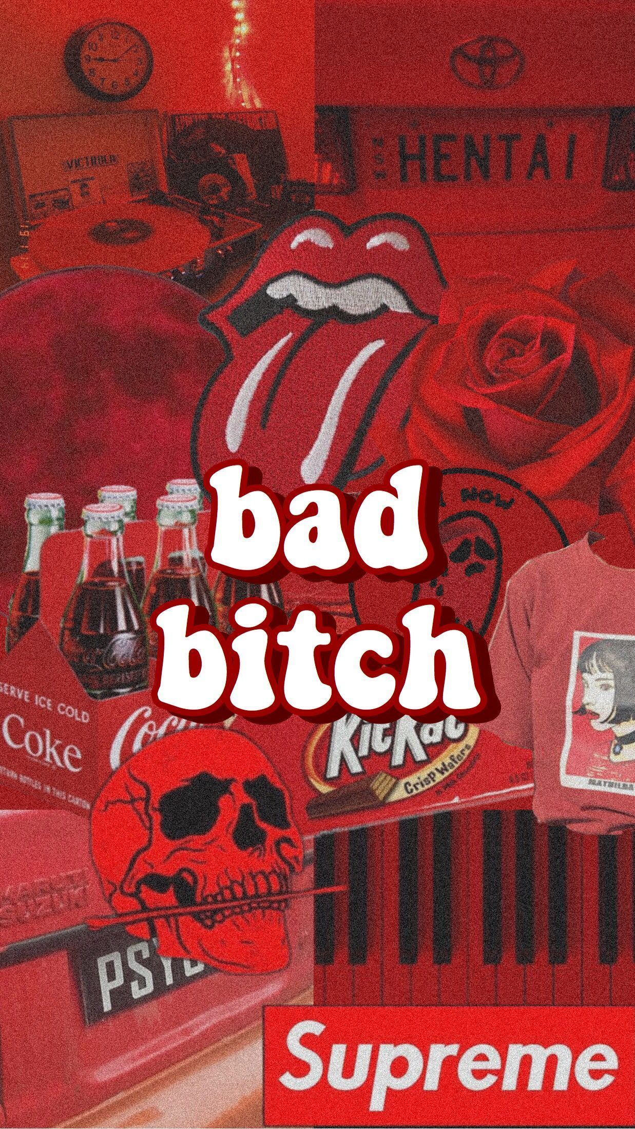 """""""bad bitch"""" red aesthetic wallpaper #aestheticwallpaper"""