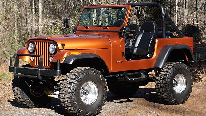 1979 Jeep Cj 7 Lift Kit Roll Cage Presented As Lot L117 At