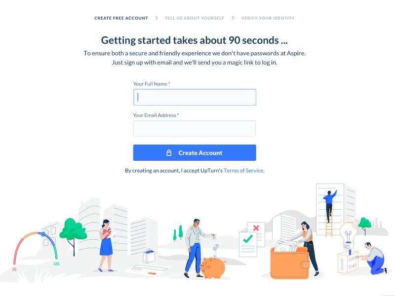 Credit report signup web design credit report