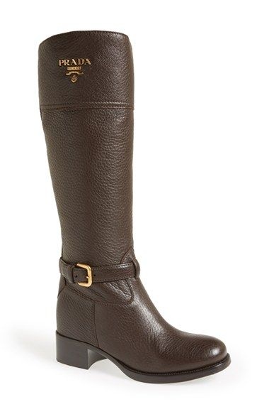 Prada Logo Riding Boot (Women) available at  Nordstrom  4a1a655f4e