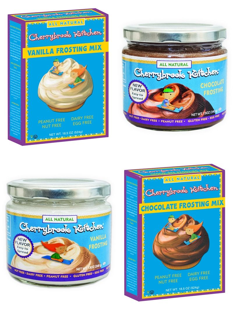 cherrybrook kitchen folding island frosting review mixes ready to spread all dairy free nut soy gluten vegan and junk