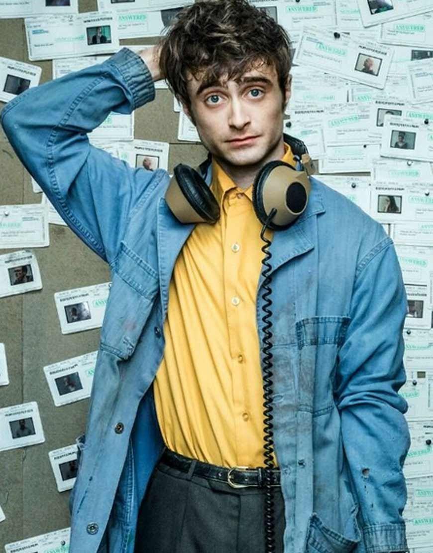 Miracle Workers Daniel Radcliffe Long Denim Coat Long