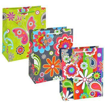 bulk voila large alloccasion floral gift bags at
