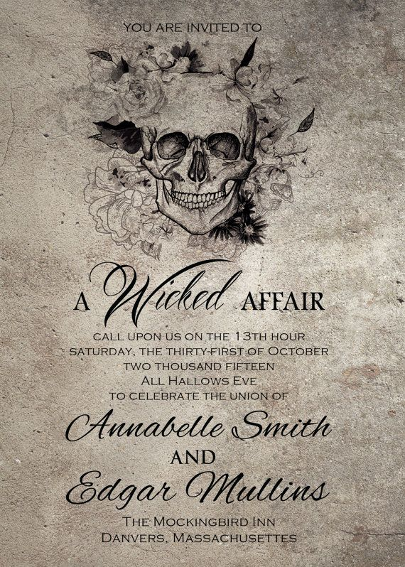 Spooktacular Halloween Wedding Invitations Weddings Pinterest
