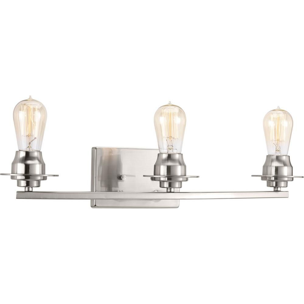 Photo of Progress Lighting Debut Collection 4-light graphite bathroom washstand lamp P300011-143 – The Home Depot