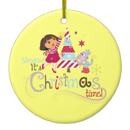Dora The Explorer Christmas Time Ceramic Ornament Christmas time