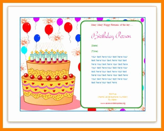 Ms Word Birthday Card Template Best Of Birthday Card Publisher Template Choice Image Tem Free Birthday Card Birthday Card Template Free Happy Birthday Template