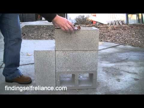 diy cinder block rocket stove for under 8 wood pinterest gute ideen drau en und. Black Bedroom Furniture Sets. Home Design Ideas