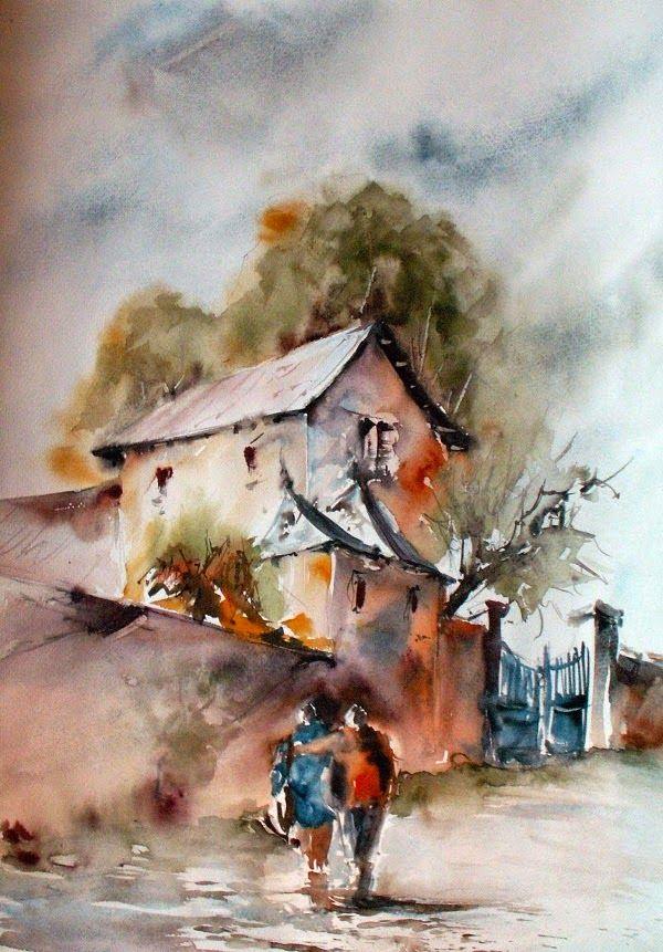 Carine Minguet Gilles Brunerie Comment Peindre Aquarelle Peinture
