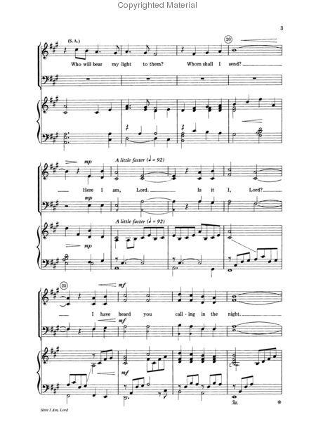 Here I Am, Lord | Music | Music, Sheet music, Free sheet music