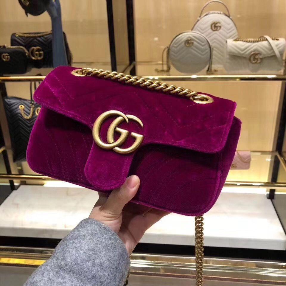 d7e268031e57d6 Gucci GG Marmont Velvet Shoulder Bag 443497 Purple www.pursemode.com #gucci  shoudler bag #gucci 443497 #gucci bag #gucci purse #discountguccibags # ...
