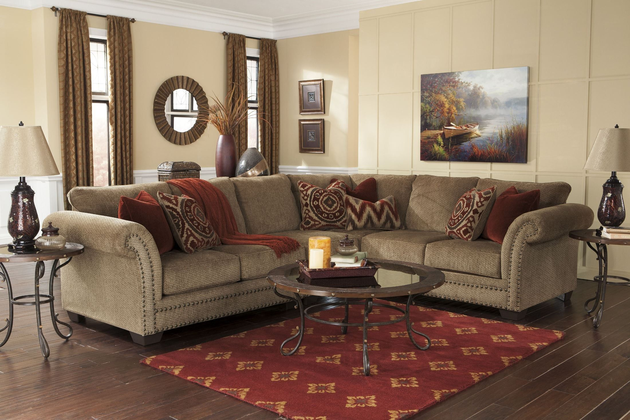 Room Grecian Amber RAF Sectional Sectionals