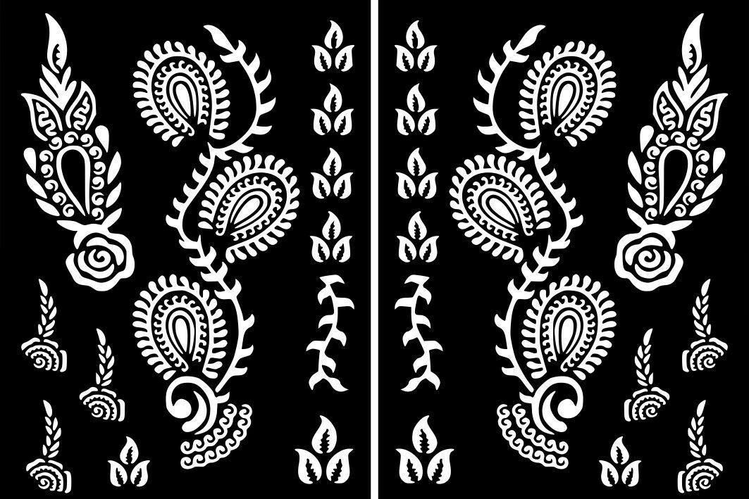 Pin By Mohammed Al Saleh On Esmecat Henna Tattoo Stickers Henna Stencils Henna Tattoo Stencils