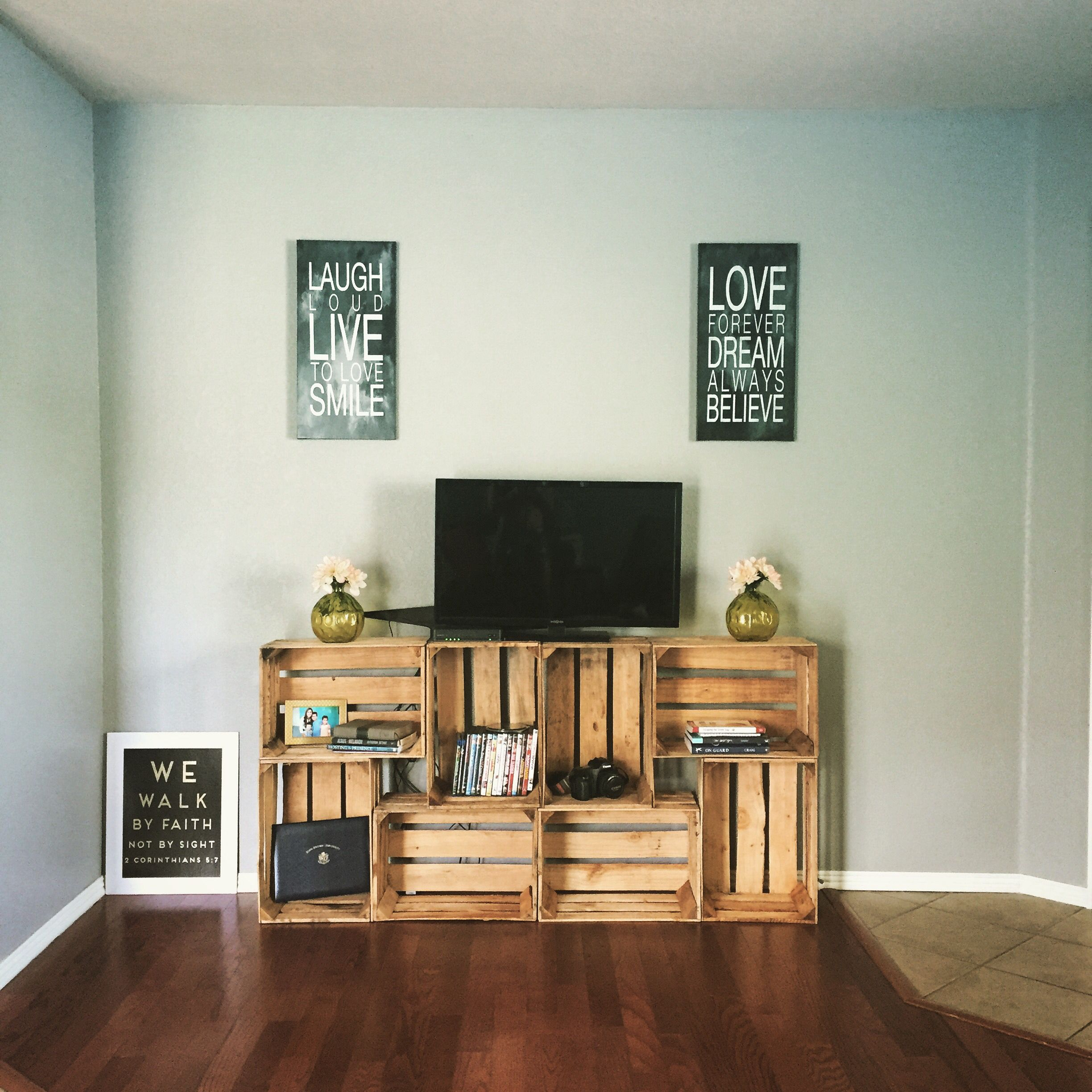Easy 50 Tv Stand Crates Diy Those Are The Days Pinterest