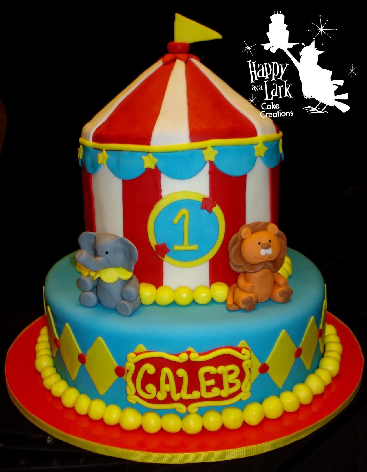 Circus First Birthday Cake Cake Recipe
