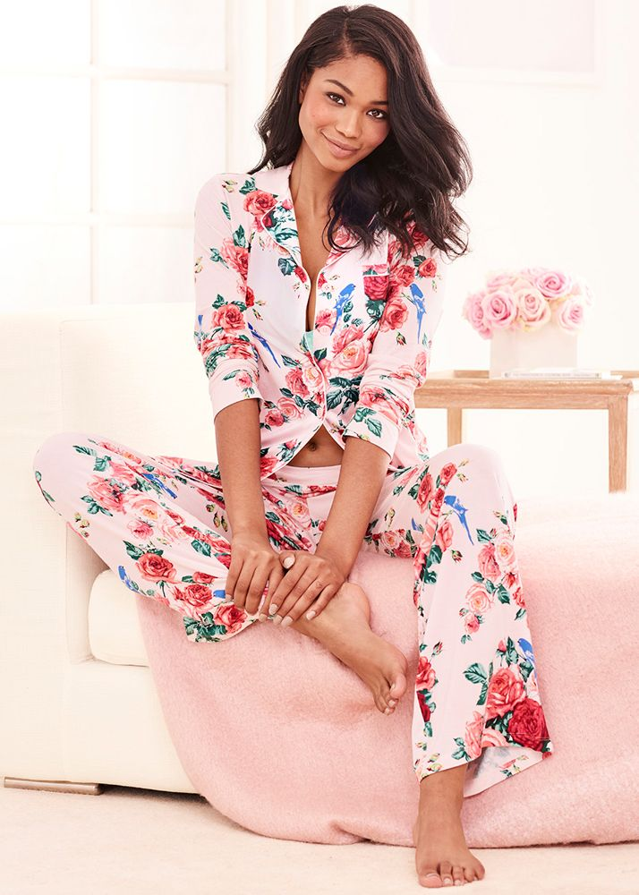 80402a7cdb3 Our timeless notch collar pajama top gets an update with a shirttail hem.  Cool Nights breathable fabric keeps you cool and dry and retains its shape  and ...