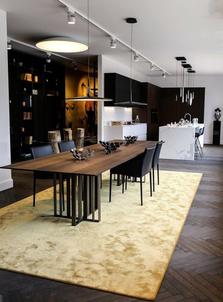 Cuisine déco- un style chic et sobre avec cette table en bois - Table De Cuisine Avec Plan De Travail