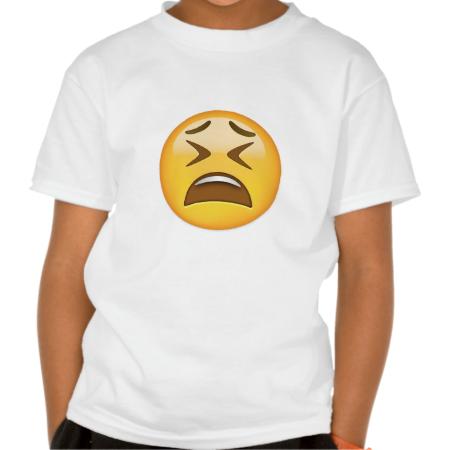 Tired Face Emoji T-Shirt | Zazzle com | Tired Face Emoji | T