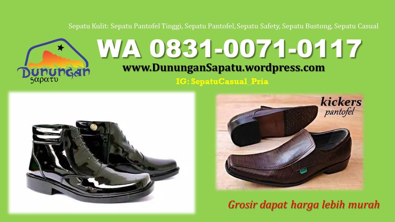 Pin Di Grosir Sepatu Kulit Pantofel Safety Casual