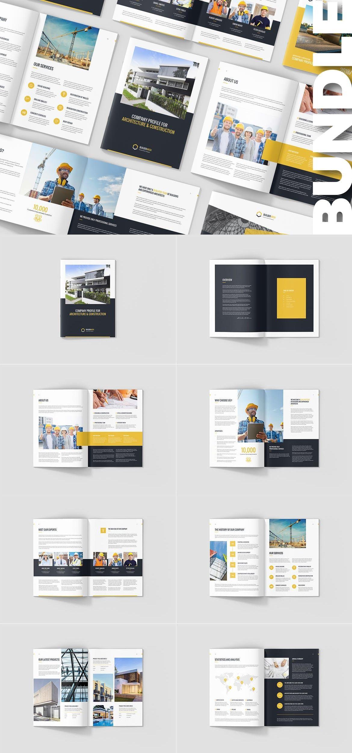 Builderarch Construction Company Profile Bundle Adobe Indesign