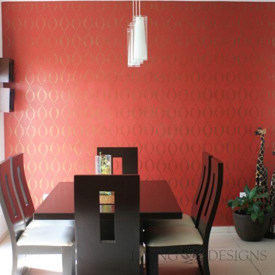 plantillas decorativas para pintar paredes plantillas