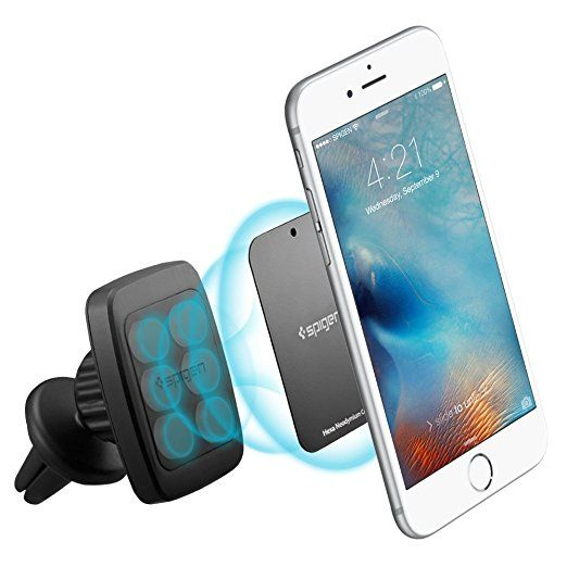 online retailer 06d44 5ab24 Amazon.com: Spigen A201 Car Mount Premium Magnetic Air Vent Phone ...