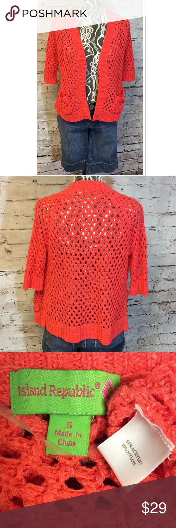 Island republic open knit cardigan/sweater | More Coral color ideas