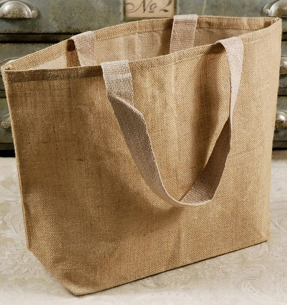 Large Burlap Jute 20x14 Tote Bags With Cotton Handles 10 55 Or 6 Each For Groceries