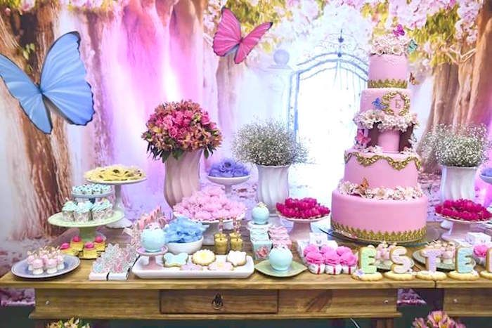 Pink Butterfly Garden Birthday Party Garden birthday parties