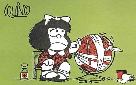 Resultado de imagen de mafalda y el mundo enfermo