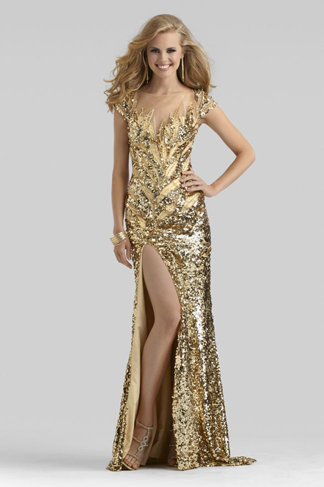 Clarisse Couture 24ct Gold Gown 4303 | Pinterest | Pageants, Prom ...