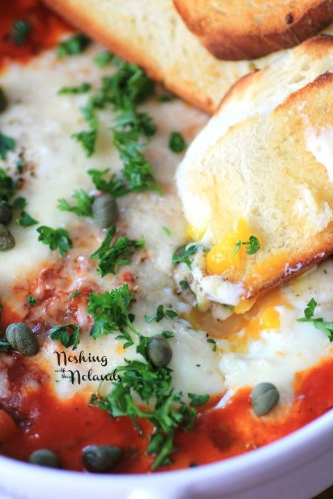Photo of Eggs in Purgatory for Valentine's Day Recipes for Two #SundaySupper