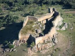 Vista aérea del castillo Miraflores de Piedrabuena (Ciudad Real)