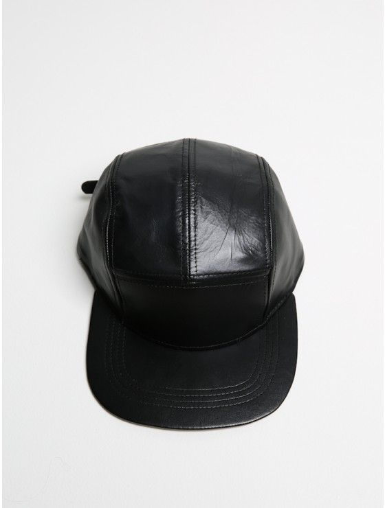 5 panel cap black leather Designer Clothes For Men 46f7e21043e