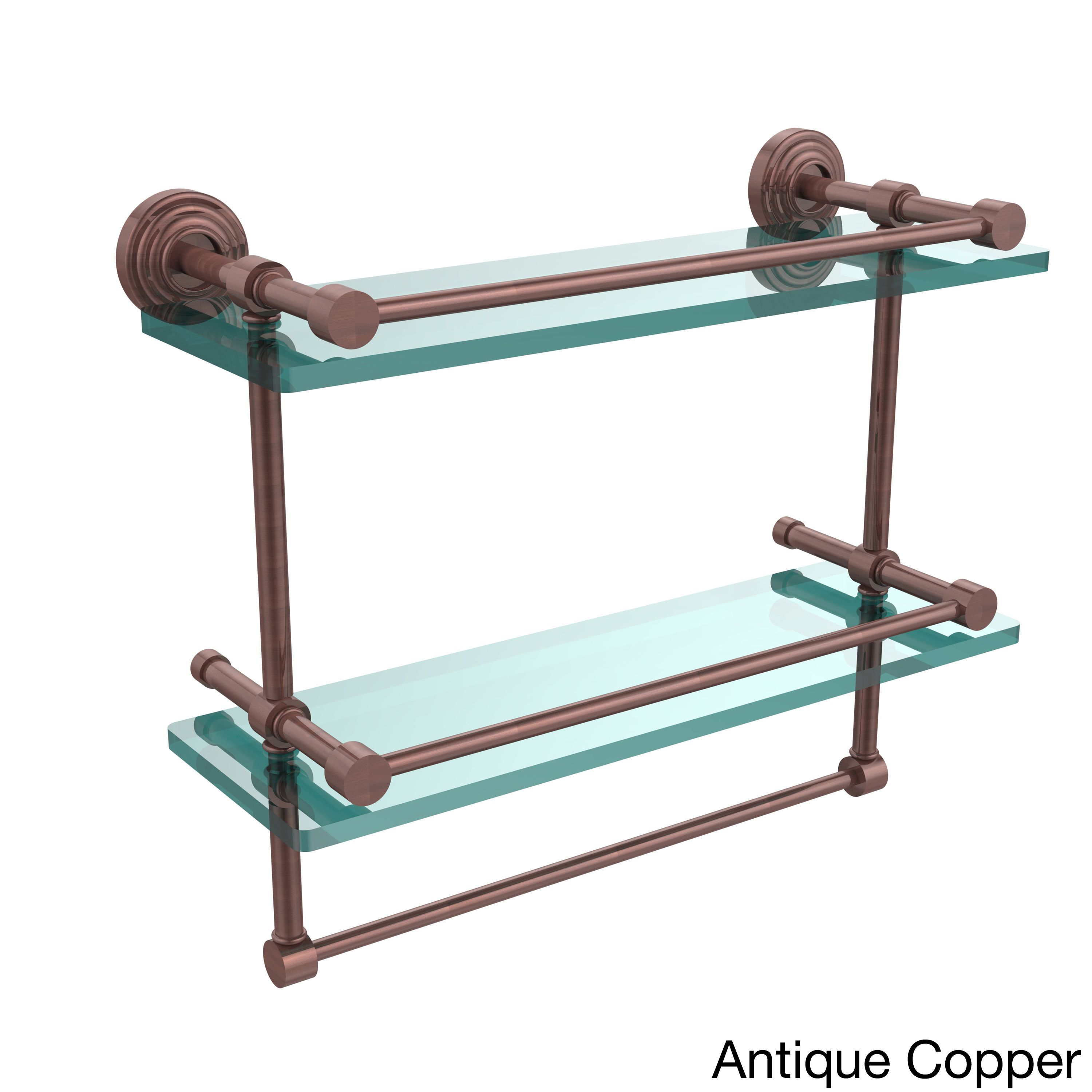 Allied Brass Waverly Place 16-inch Gallery Double Glass Shelf with ...