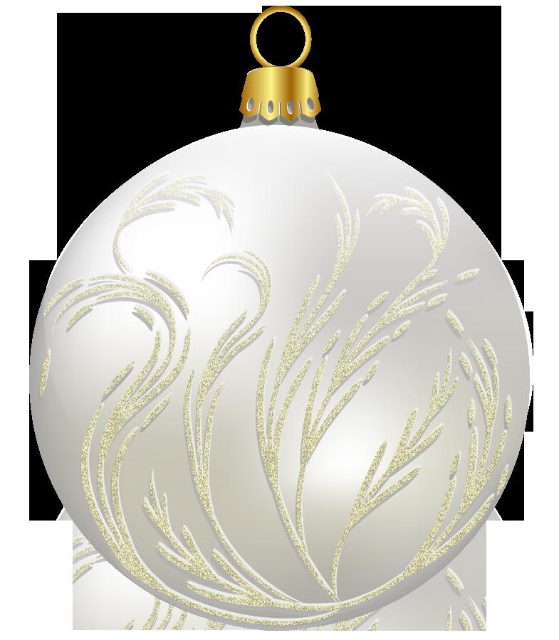 White Christmas Ball Png Clipart Christmas Balls Pretty Christmas Ornaments White Christmas